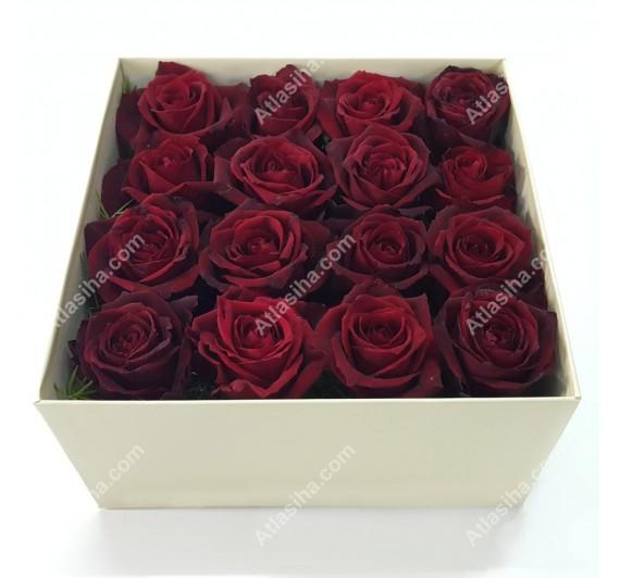 جعبه گل مکعبی قلبی